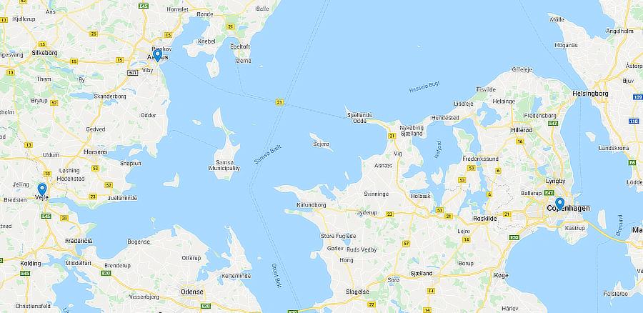 Denmark locations